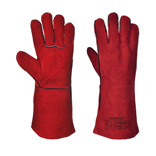 Welders Lined Gauntlet Glove Red XL 10.5