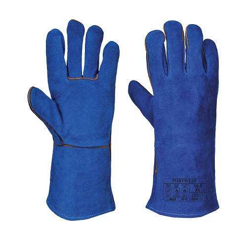 Welders Lined Gauntlet Glove Blue XL 10.5