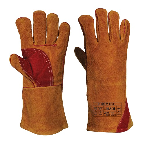 Reinforced Welding Gauntlet Brown XL 10.5