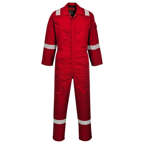 Portwest AF73 Araflame Silver Coverall Red 48""