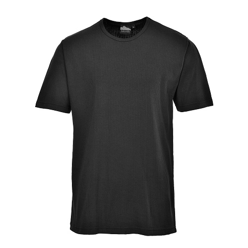 Portwest B120 Thermal T Shirt Black Small