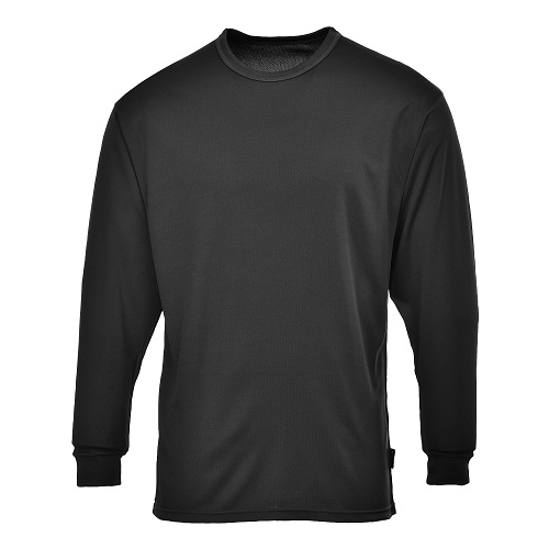 Portwest B133 Thermal Baselayer Top Black Small