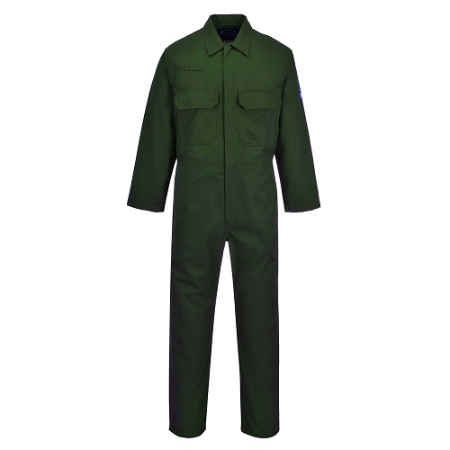 Portwest BIZ1 Bizweld FR Coverall Bottle Green Small