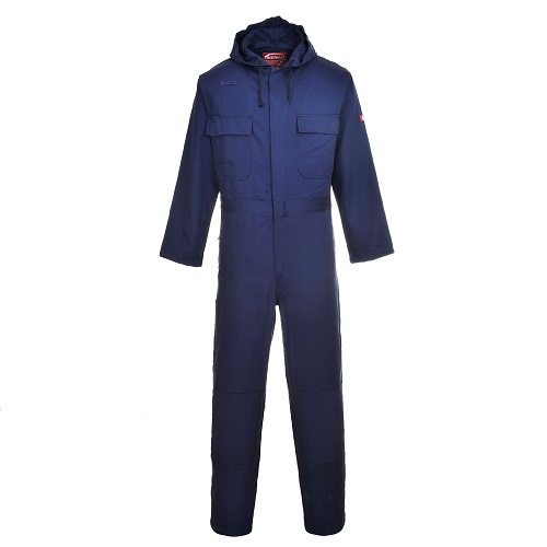 Portwest BIZ6 Bizweld Hooded Coverall Navy Medium