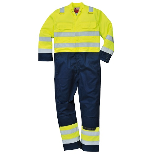 Portwest Hi-Vis Anti-Static Bizflame Pro Coverall BIZ7 Yellow / Navy S