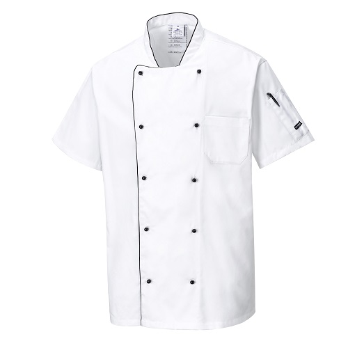 Aerated Chefs Jacket C676 White X Small