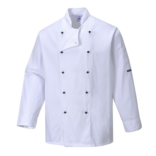 Somerset Chefs Jacket C834 White X Small
