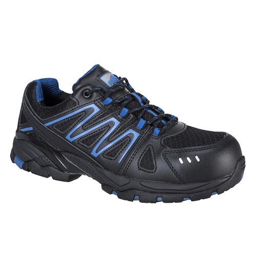 Portwest FC67 Portwest Compositelite Vistula Trainer S1P HRO Black / Blue Size 5