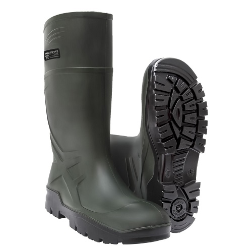 Portwest FD90 PU Non Safety Wellington O4 CI FO Green Size 6