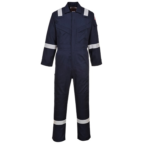 Portwest Flame Resistant Light Weight Anti-Static Coverall 280g FR28 Navy M