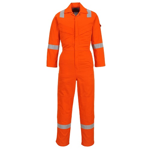 Portwest Flame Resistant Light Weight Anti-Static Coverall 280g FR28 Orange XS