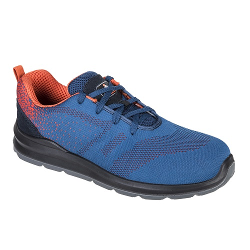 Portwest FT25 Steelite Aire Trainer S1P Blue / Orange Size 5