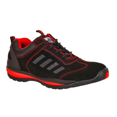 FW34 Steelite Lusum Safety Trainer S1P HRO Black / Red Size 7