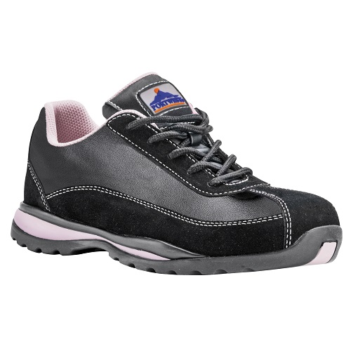FW39 Steelite Ladies Safety Trainer S1P HRO Black / Pink Size 3