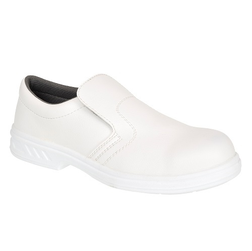 Portwest FW58 Occupational Slip On Shoe O2 White Size 5