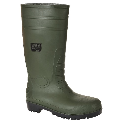 Portwest FW95 Total SafetyWellington S5 Green Size 4