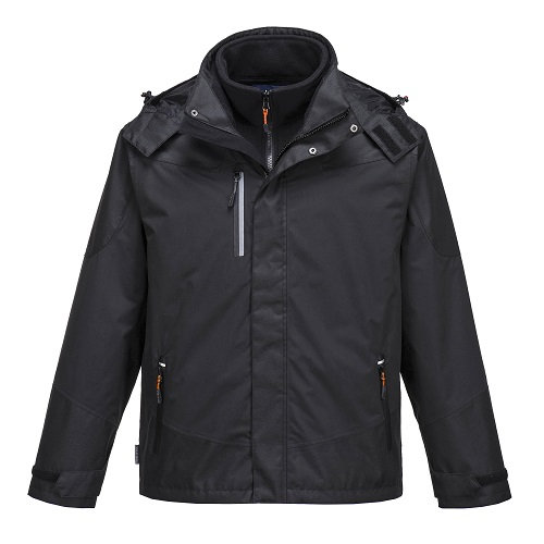 Portwest PWR S553 Radial 3 in 1 Jacket Black Small