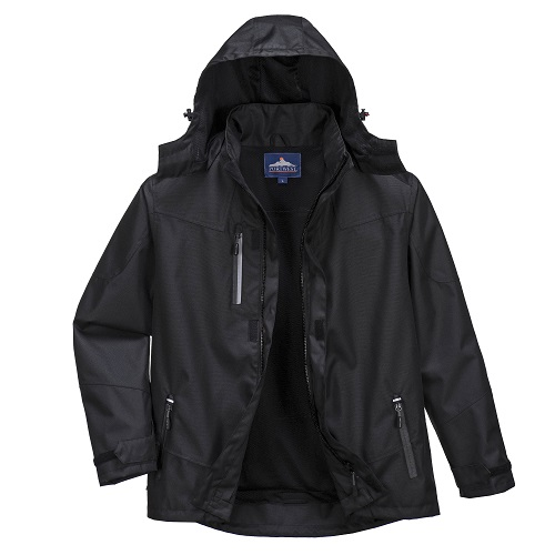 Portwest PWR S555 Outcoach Jacket Jacket Black Small
