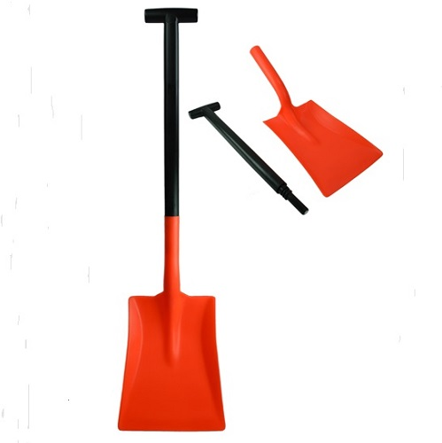 2 Part Standard Motorist Snow Shovel Red