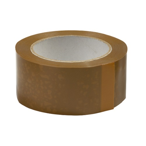 Tan Polypropylene Carton Tape 50mm x 66m Single Roll