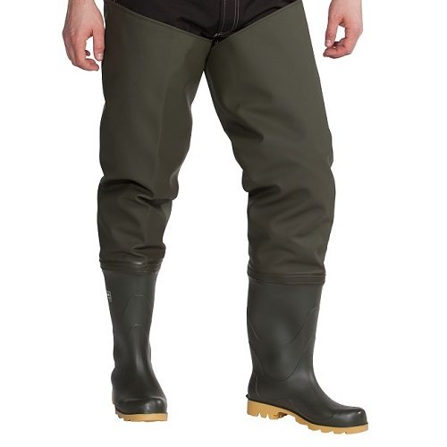 De Luxe Thigh Waders 700 g Dark Olive Size 9