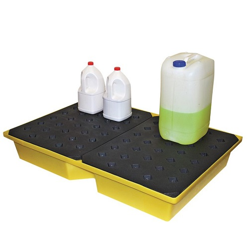 Romold Contained Spill Tray Black / Yellow 185 x 795 x 1195 mm 104 litre Sump