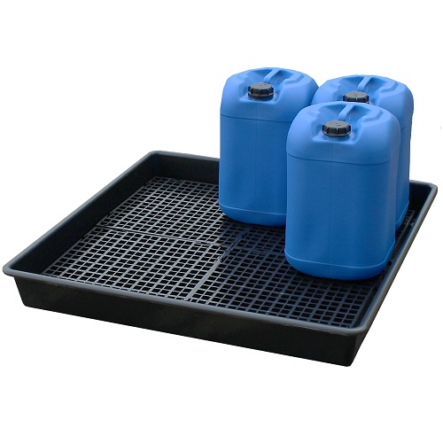 Spill Tray with Grid - 100 litre Sump with 4 Grids