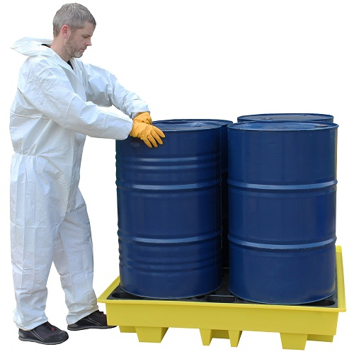 Low Profile Spill Pallet - 4 Drum