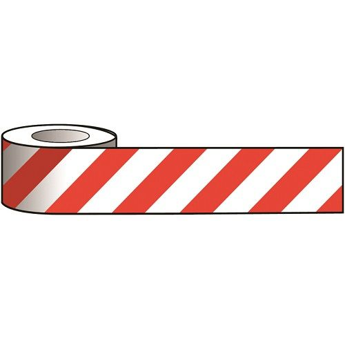 Reflective Tape Red / White 100 mm x 25 m