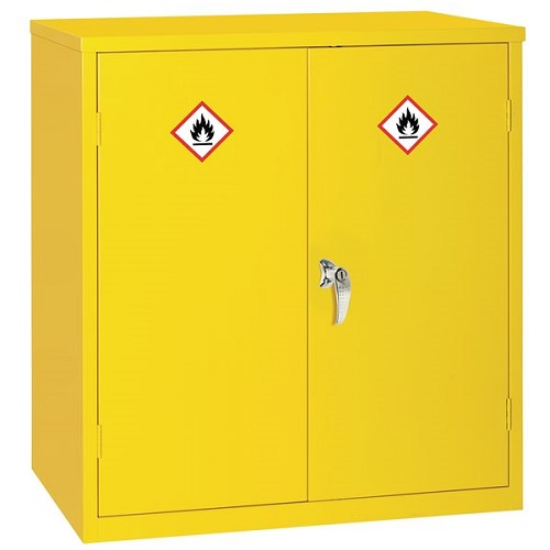 Dangerous and Flammable Substance Storage Cabinet Yellow 1000(H) x 915(W) x 457(D) mm
