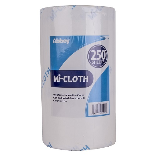 Mi-Cloth Microfibre Roll Blue 250 sheets 26 x 31 cm