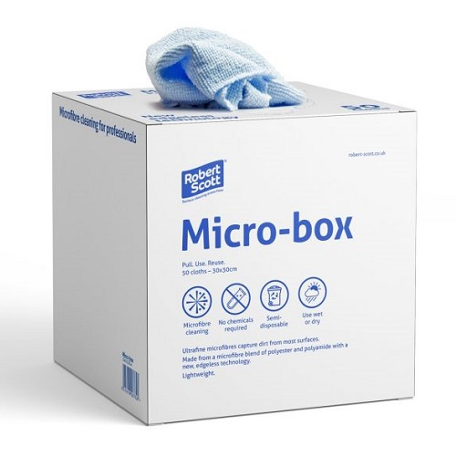 Micro-Box Microfibre Cloth 30 x 30 cm Blue 50's
