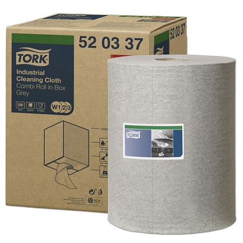 Tork Industrial Cleaning Cloth Grey W1 Single Roll 148.2 m