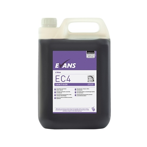 Evans EC4 Sanitiser Multi Surface Cleaner and Disinfectant 2 x 5 litres