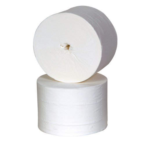 Jangro Coreless Toilet Rolls White 2 Ply 36 Rolls x 100 m