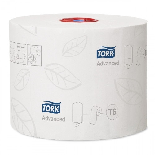 Tork Advanced Auto Shift T6 Compact Toilet Rolls White 2 Ply 27 Rolls x 100 m