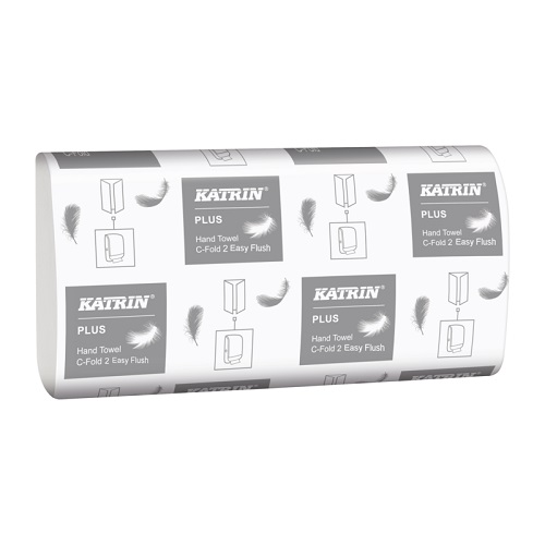 Katrin Plus EasyFlush Hand Towels C Fold White 2 Ply 2400's