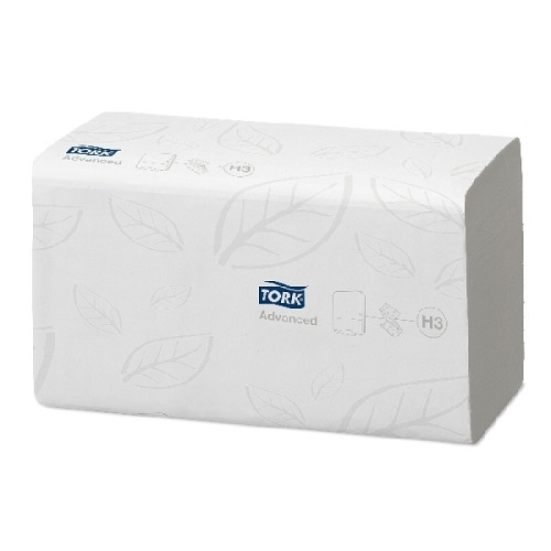 Tork Advanced Singlefold Hand Towels White 2 Ply 3750's H3