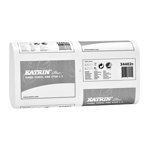 Katrin Plus Hand Towel One stop L3 White 3 Ply 1890's