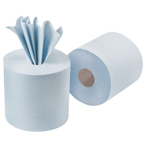 Contract Centre Feed Rolls Blue 2 Ply 6 Rolls x 104m