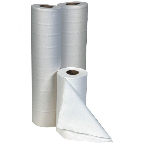 "10"" 25cm Embossed Hygiene Roll Towel White 2 Ply Single Roll x 50 m"