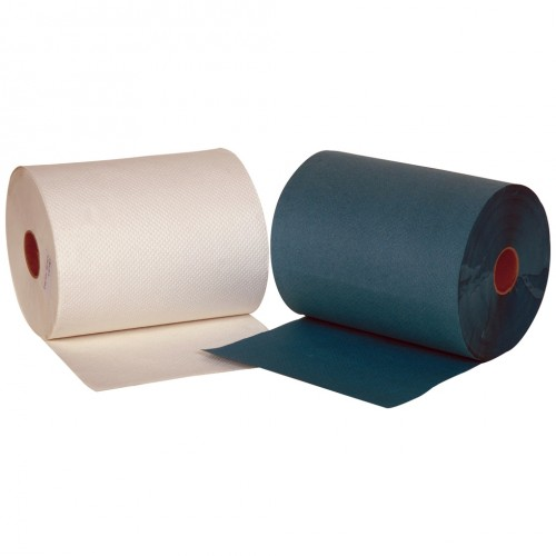 Jangro Roll Towels White 2 Ply 8 Rolls x 100m