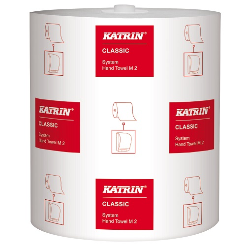 Katrin Classic System Roll Towel White 2 Ply M2 6 Rolls x 160 m