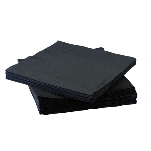 Napkins Cocktail Black 2 ply 23 x 23cm 2400's