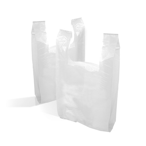 Vest Carrier Bags White 280 x 410 x 510 mm 13 gsm 2000's