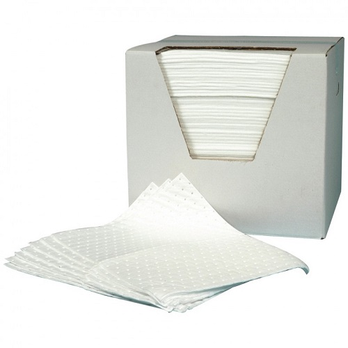 Absorbent Pads 40cm x 50cm - Oil Use Box of 100