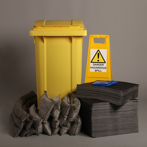 Wheelie Bin Spill Pack Storage Kit - Oil Use