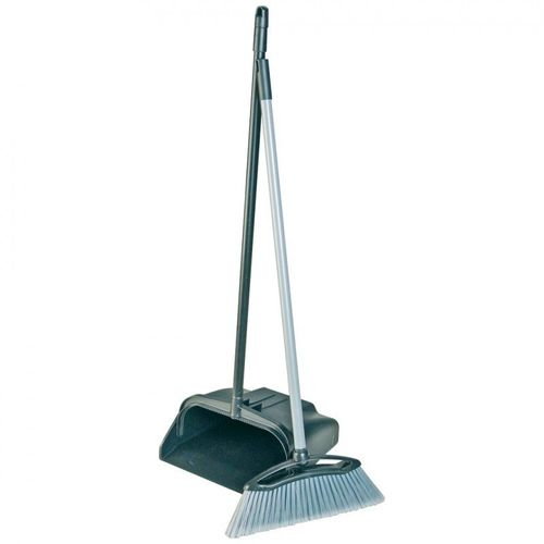 Lobby Dustpan and Brush Black