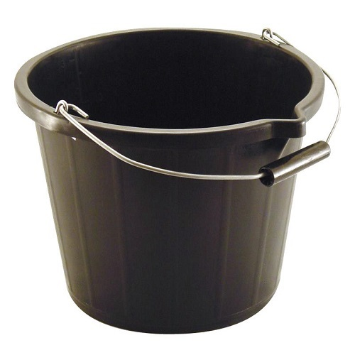 Builders Lipped Bucket Black 14.5 litres