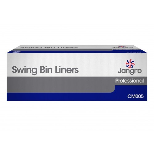"White Contract Swing Bin Liners 13 x 23 x 30"" 1000's"